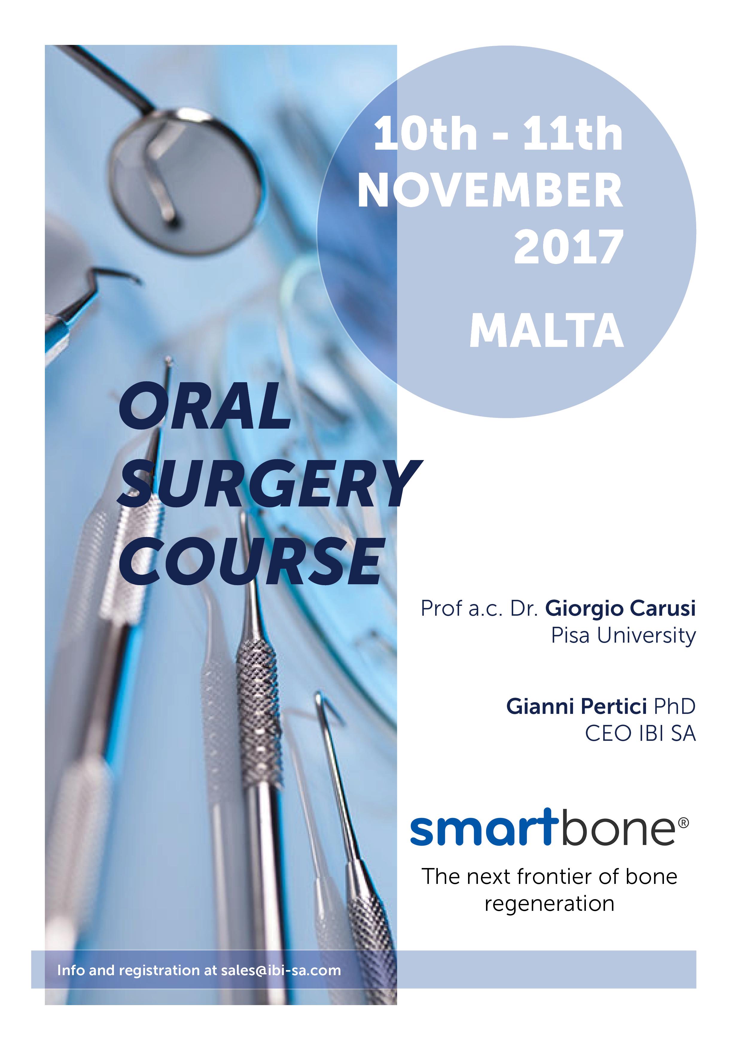 SmartBone® Oral surgery course malta