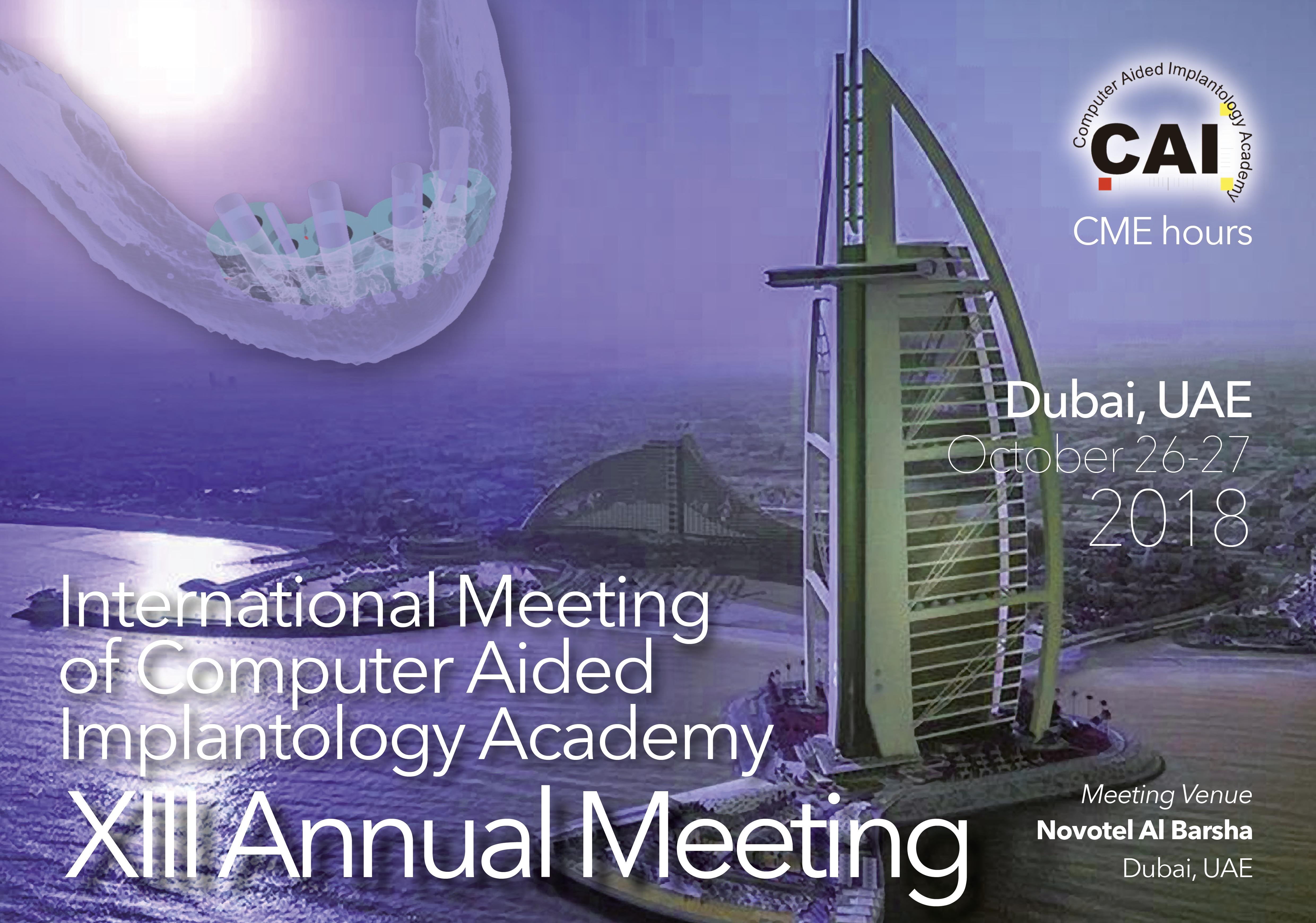 CAI 2018 Dubai, UAE 26-27 October 2018
